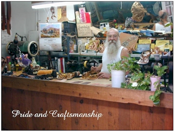 The Owner and Craftsman of Island Sandals in Lahaina, Maui